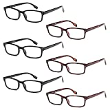 GAMMA RAY READERS 6 Pairs Men's Readers Quality Spring Hinge Reading Glasses for Men - 3.50x