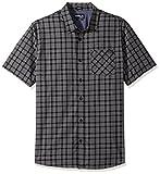 O'Neill Men's Check Short Sleeve Shirt, Black, Small