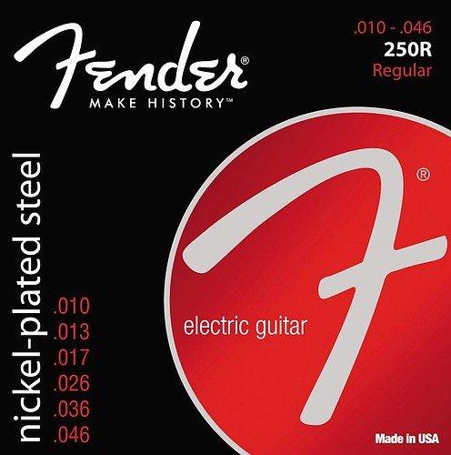 Fender 250R 10-46 Nickel Plated Steel Electric Guitar Strings 3 Sets
