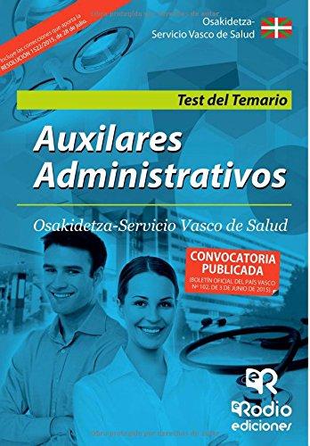 Descargar Libro Test Del Temario. Auxiliar Administrativo. Servicio Vasco De Salud Carolina Romero Garcia