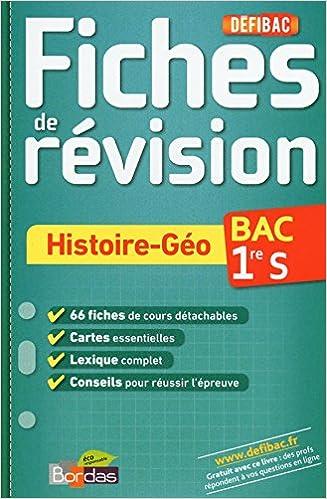 Fiches de révision histoire-géo 1e S: David Dumaine: 9782047319789: Amazon.com: Books