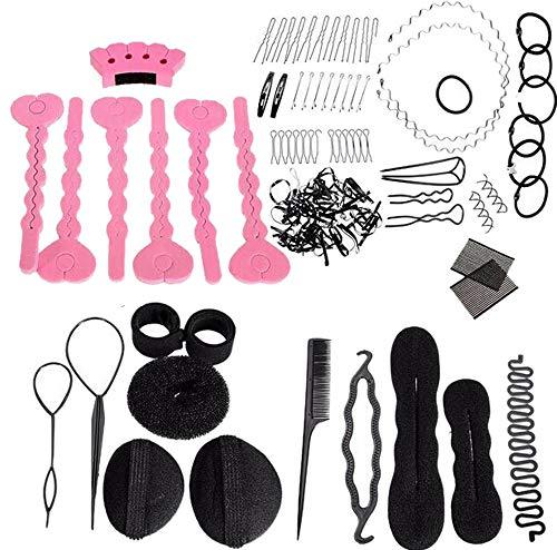 20Pack Hair Braiding Tool Kit Hair Styling Tools Clips Portable Hair Bun Maker Bundle Firm Hair Twist Styling Clip Stick Bun Maker Braid Tool for Women Hair Accessories Convenient (Random)