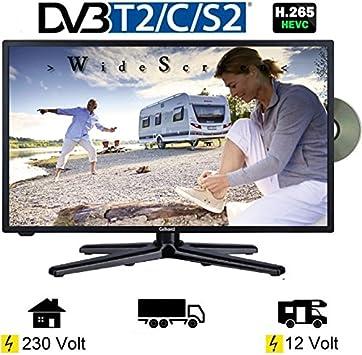 Gelhard GTV de 1980 LED 18,5 Pulgadas Wide Screen TV DVD DVB-T/S/S2/T2/C 230/12 V: Amazon.es: Electrónica