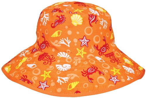 - Baby Banz UV Reversible Bucket Hat, Orange Tide, Kids