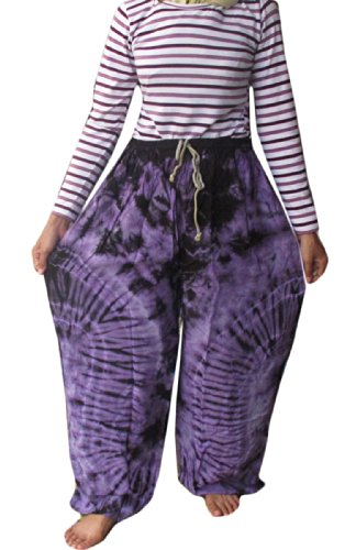 Cotton Rayon Tie Dye Fisherman Yoka Pants Hippie Baggy Trousers