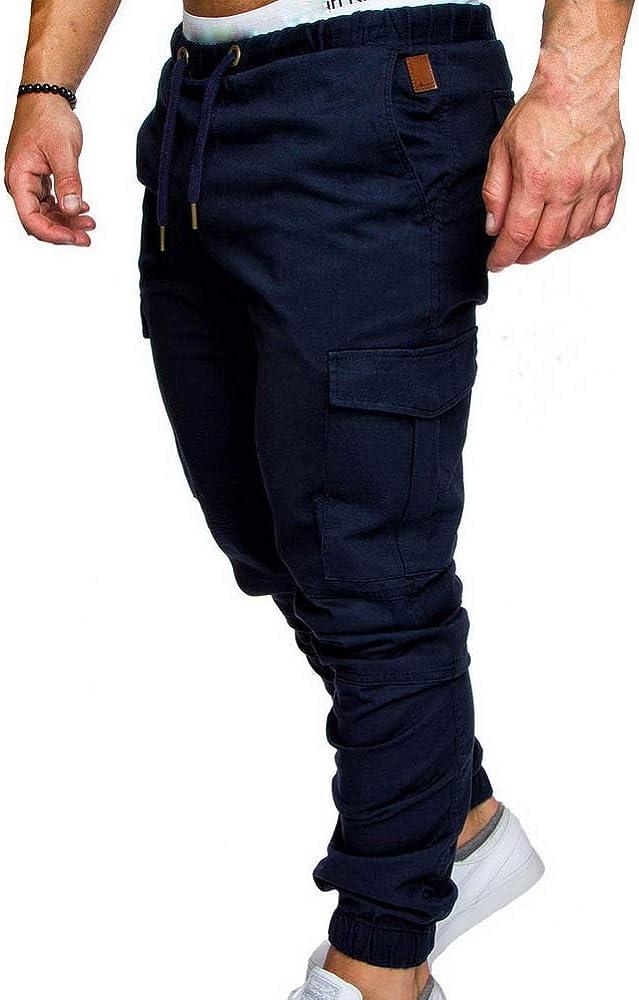 ROBO Pantalones Largos Invierno Deportivos Slim Fit Cintura Media ...
