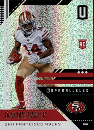 2018 Panini Unparalleled #175 DeAndre Carter RC Rookie Football Card San Francisco 49ers