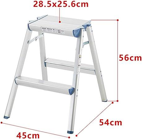 Heces Escalera de Mano Taburete De Hogares De Aleación De Aluminio Plegable Al Aire Libre Conveniente Ingeniería Escalera Plataforma (Color : Silver, Size : 45 * 54 * 56cm): Amazon.es: Hogar
