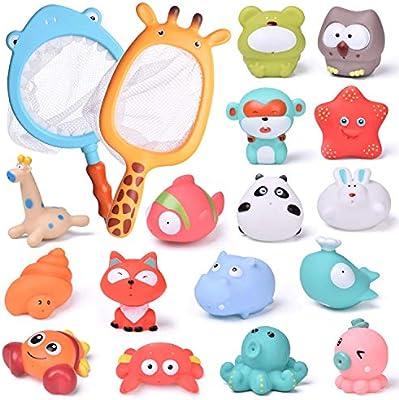 Amazon.com: FunLittleToy - 18 juguetes de baño para bebé con ...