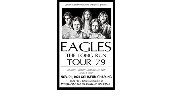 Brotherhood Products Eagle 1979 The Long Run Tour Charlotte NC 11x17 Poster