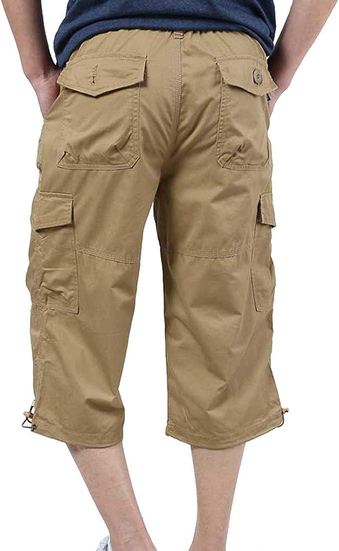 LuckyGirls Hombres Pantalones de Cargo Pantalones de Trabajo ...