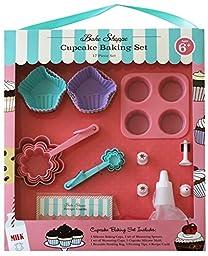 Handstand Kitchen Bake Shoppe 17-piece Cupcake Baking Set for Kids