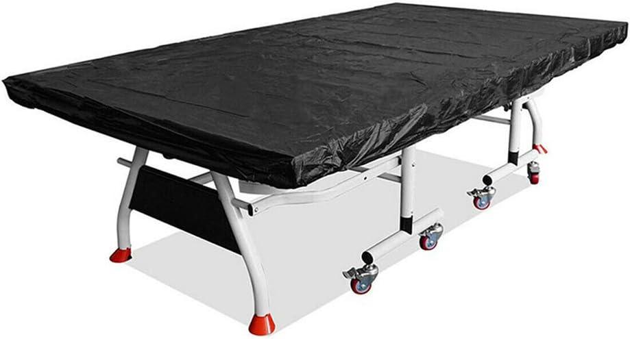 Reuvv - Funda para Mesa de Ping Pong, Impermeable, a Prueba de Polvo, para Interiores y Exteriores (280 x 150 cm), Color Negro
