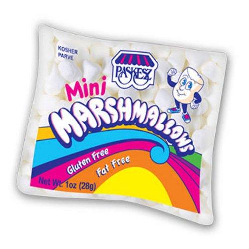 Paskesz Mini White Marshmallows 1 Oz. Bag (Pack of 12)