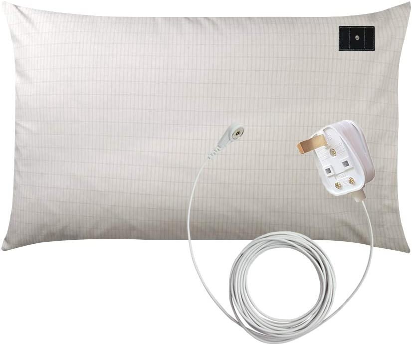"Earthing Ground Pillow Case For Health /& EMF Protection Improves Sleep 20/""x28/"""