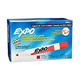 EXPO 88002 Original Dry Erase Markers, Bullet Tip, Red, 12-Count