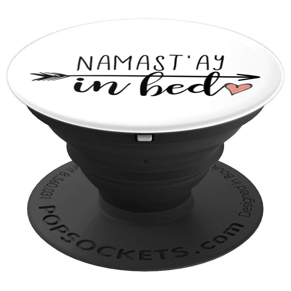 Amazon.com: Namastay in Bed Black Arrow Pink Heart Yoga ...