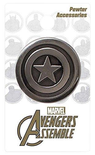 Marvel Captain America Shield Deluxe Pewter Lapel Pin