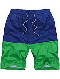 Men's Swim Trunks Mesh Lining Beach Shorts with Pockets