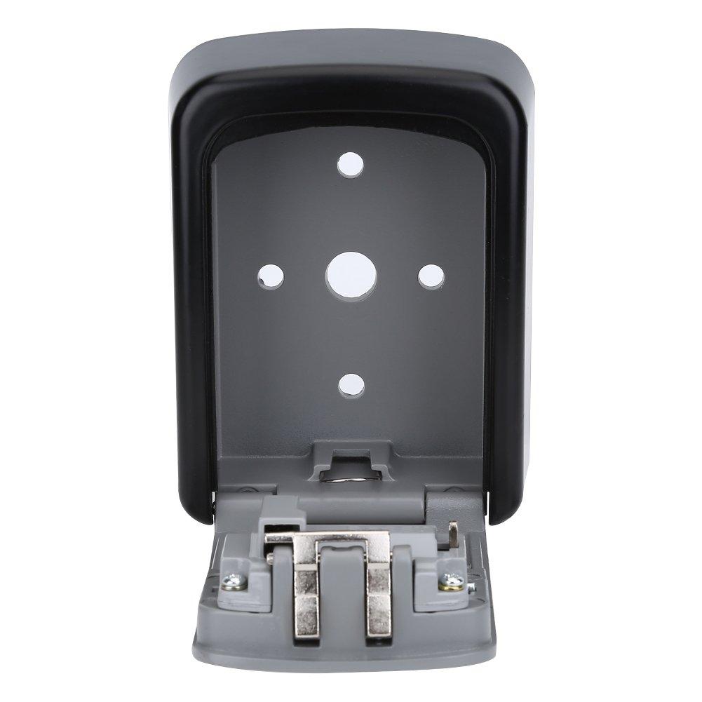 Vbestlife Key Storage Wall Mount Lock Box,4 Digit Combination Password Key Safety Code Keys Holder Storage Lock Box Case-Business Commercial Key Solid Lockbox for Indoor Outdoor by Vbestlife (Image #5)