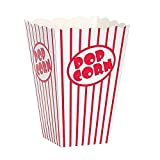 Movie Theater Red and White Striped Popcorn Boxes popcorn box cardboard Popcorn Boxes Popcorn Bucket (10, 8'' x 5)