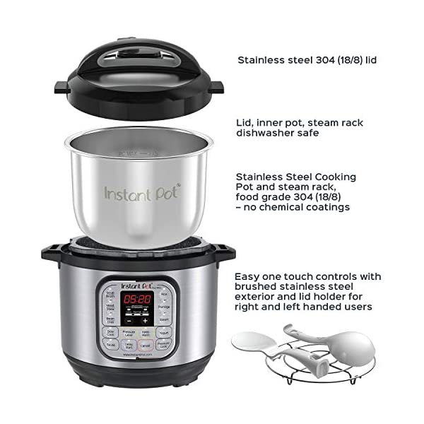 Instant Pot Duo Mini 3 Qt 7-in-1 Multi- Use Programmable Pressure Cooker, Slow Cooker, Rice Cooker, Steamer, Saute… 3