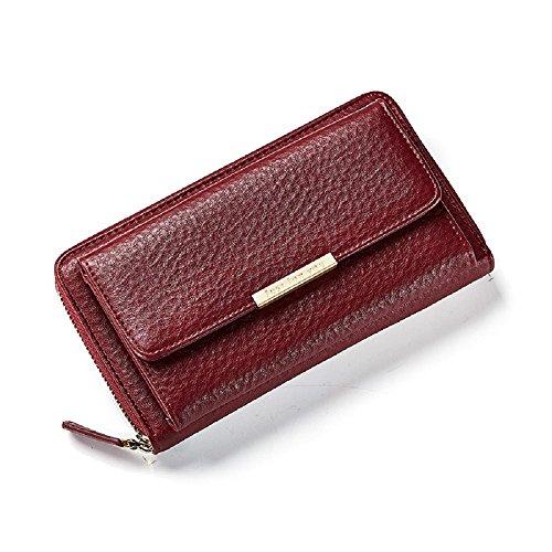 Hasp Porte éclair amovible longue Pu Rouge FOR fermeture YOU monnaie sac Crossbody à bandoulière sangle embrayage Messenger cuir JUST femmes avec et f4qRwFxF