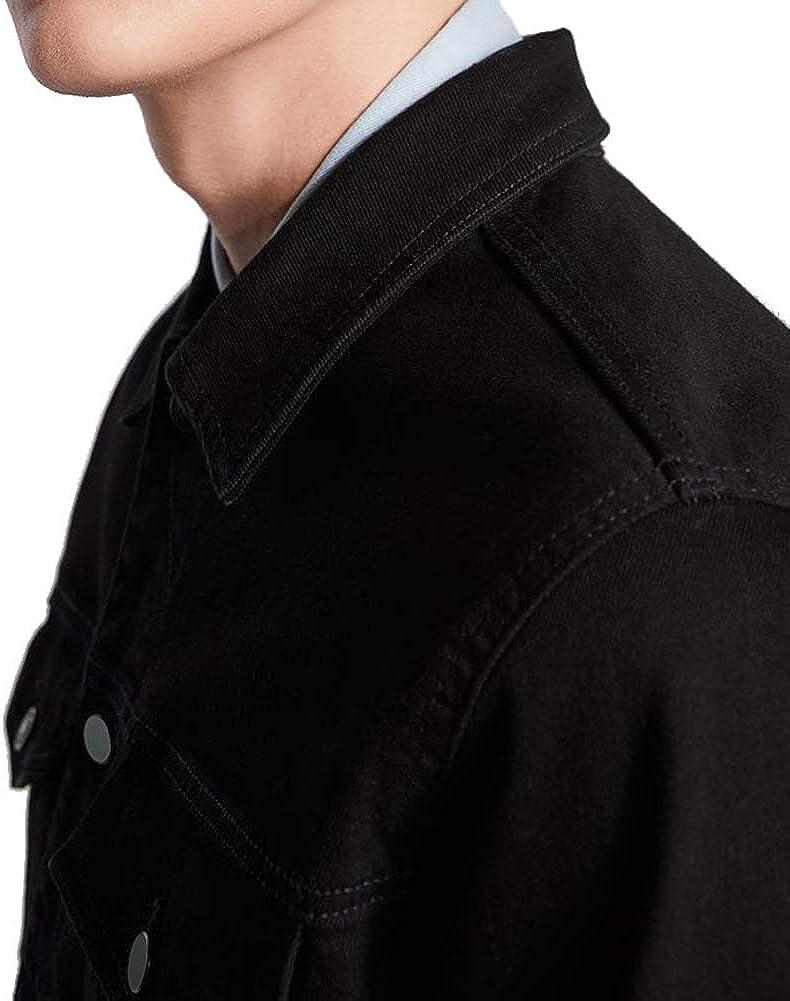 Symbidium Mens Casual Denim Classic Jacket Cowboy Rugged Wear Unlined Biker Trucker Jean