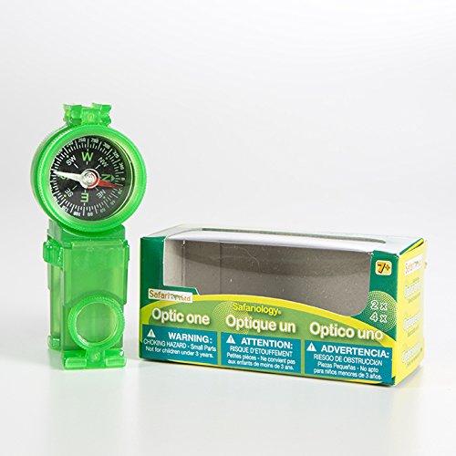 Binoculars Translucent - Safari Compass Monocular Binocular Signaling Mirror Tool - 4-Pack, Assorted Translucent Colors