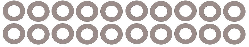 Sterling Seal CRG7540.400.125.150X20 7540 Vegetable Fiber Ring Gasket 4 Pipe Size Pack of 20 1//8 Thick 4.5 ID Pressure Class 150#