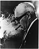 Photo: William George Meany 1894-1980,Led Labor Union Federations,smoking cigar