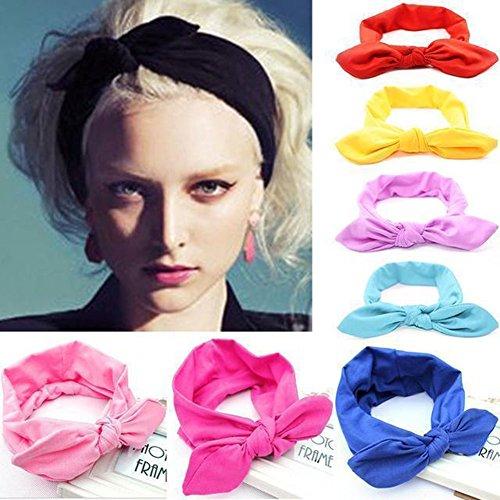nera elastica con annodata Fascia fascia girocollo per capelli elastica elastica per capelli fascia con fascia w1Pq6TxI1