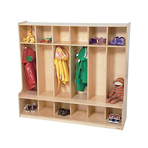 Birch Shoe Rack - Wood Designs WD51006(6) Baltic Birch Plywood Section Seat Locker 15x54x49