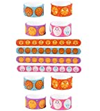 Novelty Treasures COOKIE Design Silicone Slap Bracelets (Set of 12) YUMMY Birthday Party Favor Goody Bag Toy