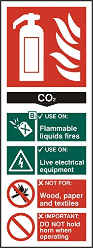 Extintor C02/vinilo autoadhesivo se/ñal de seguridad