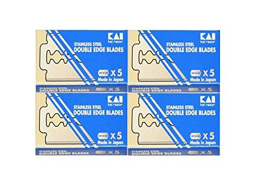 20 Kai Stainless Steel Double Edge Razor Blades