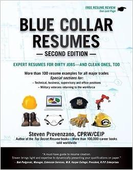 Blue Collar Resumes Steve Provenzano 9781133702627 Amazon Books