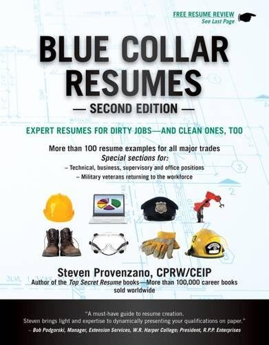 blue collar resumes steve provenzano 9781133702627 amazon com