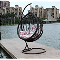 Galaxy Design Rattan Hanging Chair (Swing Chair) (Brown)