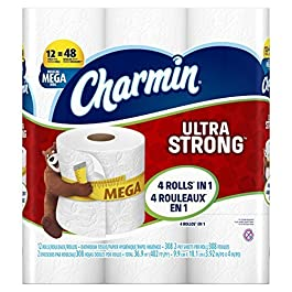 Charmin Ultra Strong Toilet Paper Mega Rolls, 12 Count by Charmin