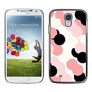 TopCaseStore / la caja del caucho duro de la cubierta de protección de la piel - Pink Pattern White Black - Samsung Galaxy S4 I9500