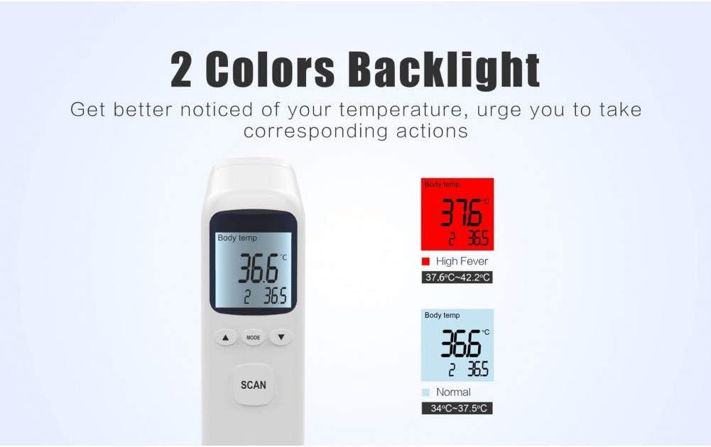 CJGCJG Term/ómetro Corporal Sin Contacto Term/ómetro Digital Frontal Temperatura Port/átil para Adultos Sin Contacto