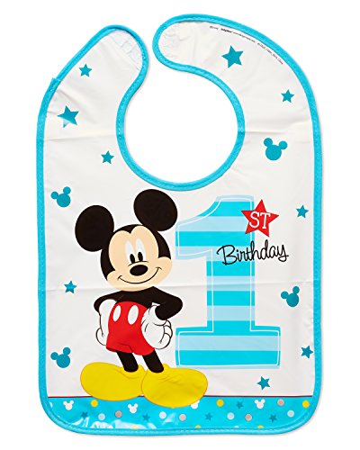 Amscan Disney Mickey Mouse 1st Birthday Bib ()