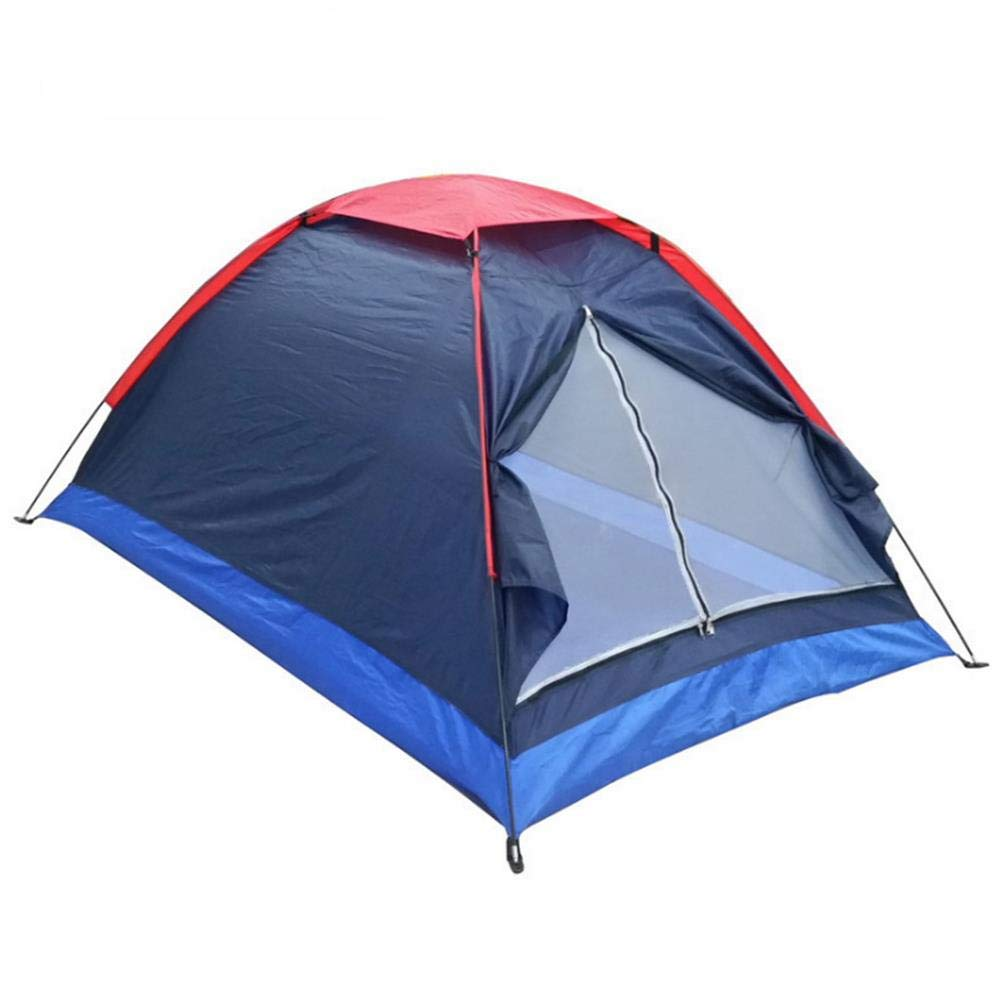 ZWGYQ Camping Zelt Outdoor Doppel Single Layer Anti-Spritzing Navy Blau Double Zelt