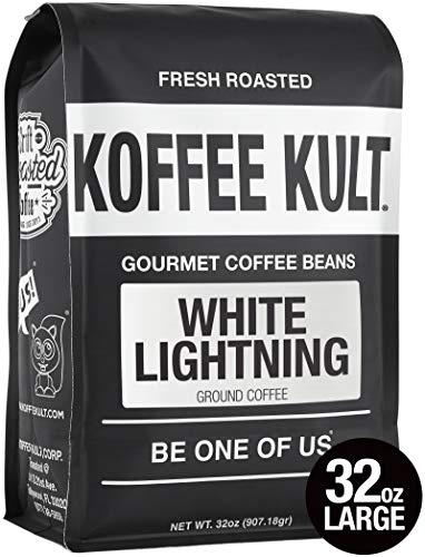 White Lightning Coffee Blonde Ground Light Roast by Koffee Kult (Ground, 32oz) ()