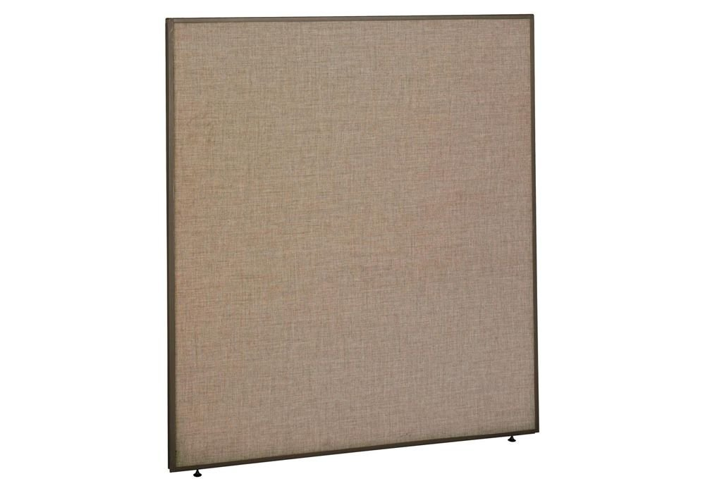 Panel 60W x 66H Dimensions: 60.125''W x 1.875''D x 66.875''H Weight: 77 lbs Harvest Tan Fabric/Taupe Frame