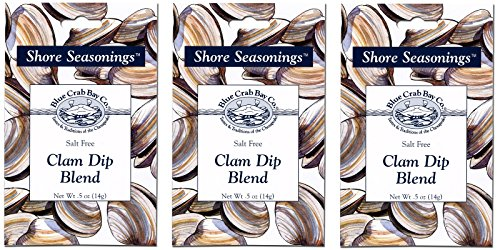 Clam Dip Recipe (Blue Crab Bay Co. Seafood Dip Blend .5 Oz (Pack of 3) (Clam))