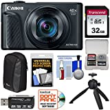 Cheap Canon PowerShot SX740 HS Wi-Fi 4K Digital Camera (Black) with 32GB Card + Case + Tripod + Kit