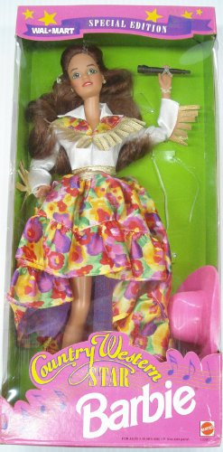 Barbie 1994 Country Western Star Walmart Special Brunette Hair
