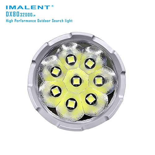 Imalent DX80 Flashlights High Lumens 32000 Lumens Searchlight LED Flashlights Built-in Battery by IMALENT (Image #2)